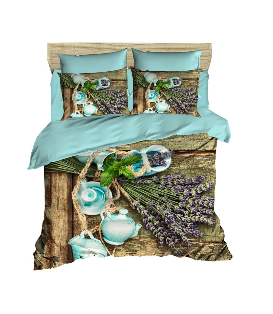 Постельное белье LIGHT HOUSE 200х220 ranforce 3D рисунок Lavender
