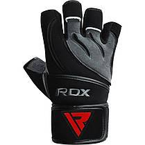 Перчатки для фитнеса RDX Pro Lift Black S, фото 2