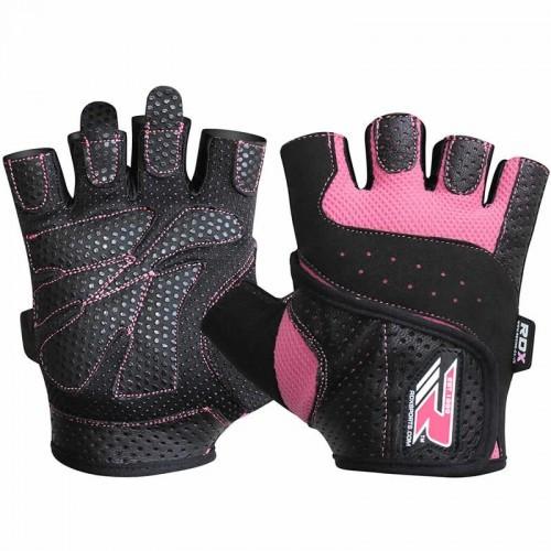 Перчатки для фитнеса женские RDX Pink S