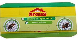 Клеєва пастка для тарганів Argus (5 шт.) / Клеевая ловушка тараканов Argus с аттрактантом, 5 шт в уп.