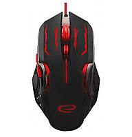Игровая компьютерная мышь USB Esperanza MX403 APACHE (EGM403R) Черный / Красный