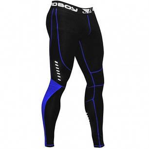 Компрессионные штаны Bad Boy Leggings Black/Blue S, фото 2