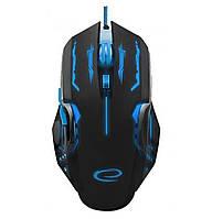 Игровая компьютерная мышь USB Esperanza MX403 APACHE (EGM403B) Черный / Синий