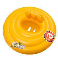BW Плотик 32096 (12шт) детский, надувной, желтый, 69 см, (РК-32096)