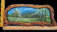 Картина в деревянном обрамлении