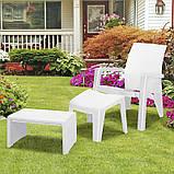 Стіл для шезлонга Keter Lago Lounge Side Table White ( білий ), фото 6