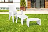 Стіл для шезлонга Keter Lago Lounge Side Table White ( білий ), фото 3