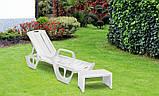 Стіл для шезлонга Keter Lago Lounge Side Table White ( білий ), фото 9
