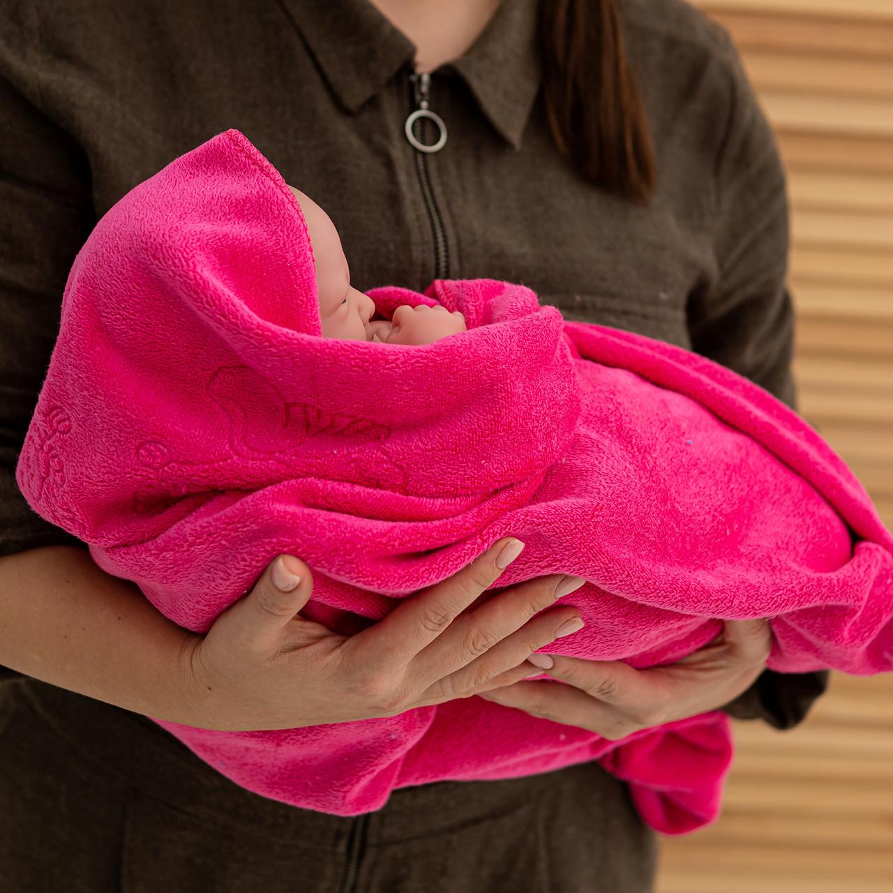 Крижмо рушник мікрофібра рожеве