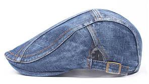Модель №144 Джинсовая кепка-коппола