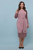 Вечернее платье с кружевом больших размеров. Р-ры: XL, XXL Лиловый