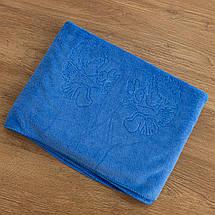 Крижмо рушник мікрофібра блакитне, фото 2