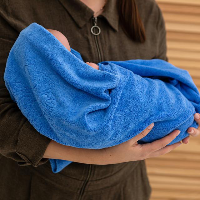 Крыжма полотенце микрофибра синие
