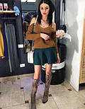 Женская юбка-полусолнце мелкой вязки (4 цвета), фото 4