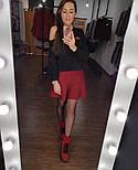 Женская юбка-полусолнце мелкой вязки (4 цвета), фото 5