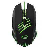Игровая компьютерная мышь USB Esperanza MX209 Claw (EGM209G) Черный / Зеленый