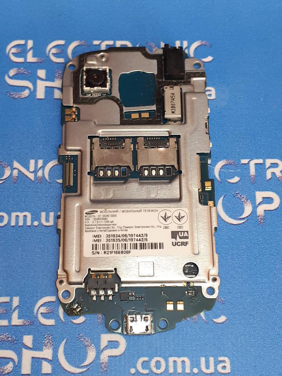 Плата основная (условно рабочая ) Samsung s5282 original б.у