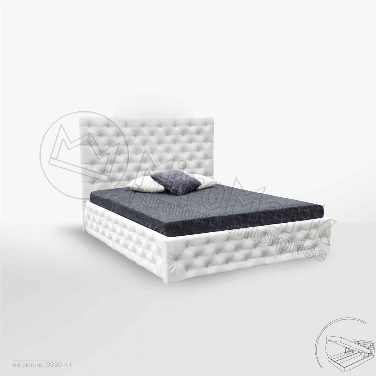 Кровать Дианора 1,60 м. с подъемным механизмом (ассортимент цветов)