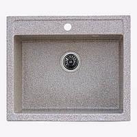 Гранитная мойка Platinum 58*50 Карамель( квадратная )