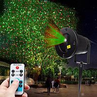 Светодиодный уличный лазерный проектор для деревьев и зданий  Outdoor Laser Shower, фото 1