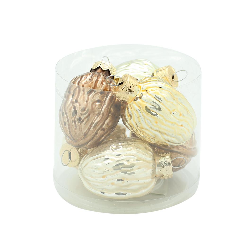 Набор шаров тубус Орехи 4.5см 6шт 108145
