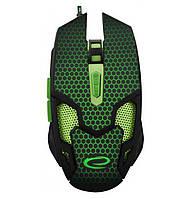 Игровая компьютерная мышь USB Esperanza MX207 Cobra (EGM207G) Черный / Зеленый