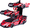 Машинка Трансформер Lamborghini Robot Car  Красная с пультом, фото 3