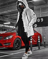 ХИТ!!! Парка Мужская зимняя белая с капюшоном, на меху+силикон, еврозима -15 С, ЛЮКС Качесто!!!