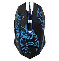 Игровая компьютерная мышь USB Esperanza MX203 Scorpio (EGM203B) Черный / Синий