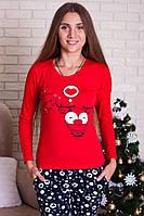 Новогодний пижамный комплект футболка и штаны, красивая теплая одежда для дома на Новый Год!!!