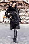"""Женская красивая длинная шуба """"Под Норку"""" из искусственного меха с капюшоном, фото 2"""