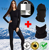 Комплект женского термобелья + балаклава + бафф до - 25°С по норвежской технологии