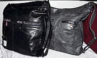 Женские сумки-рюкзак с передними карманами на молнии 36*36 см (серый и черный)