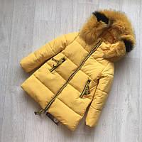 Красивая яркая зимняя куртка на тинсулейте