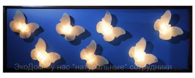 Стеновая панель из соляных бабочек