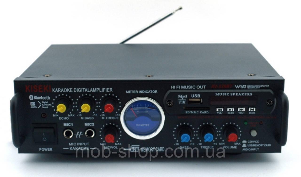 Усилитель звука Kiseki AV-339B Караоке USB Fm