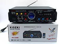 Усилитель звука Kiseki AV-339B Караоке USB Fm, фото 3