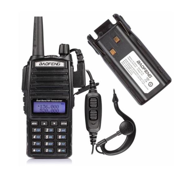 РадіостанціяBaofeng UV-82 8W / Рация Баофенг ЮВ-82, 8 Ват, двухканальная (136-174 МГц / 400-520 МГц)