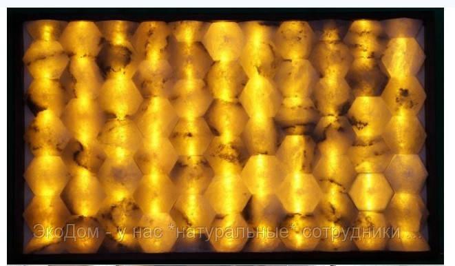 Стеновая панель с соляными сотами
