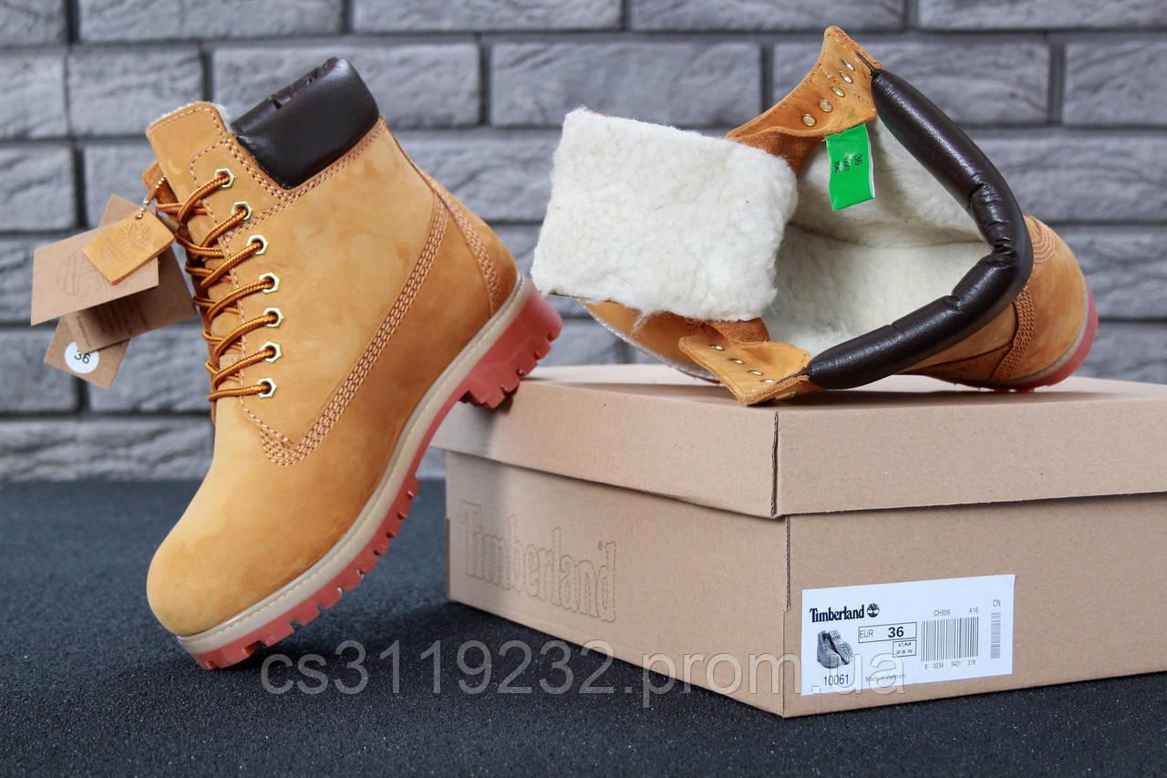 Мужские ботинки зимние Timberland Ginger (мех) (рыжий)