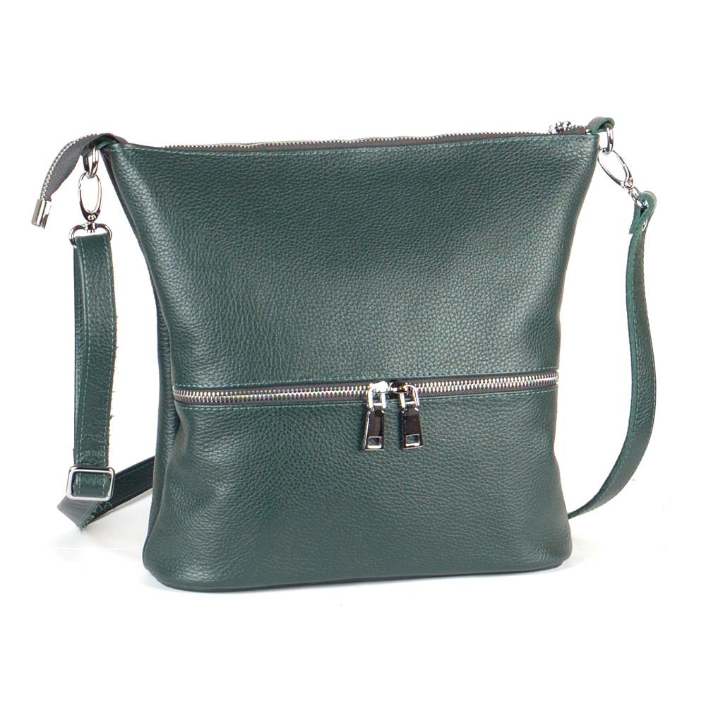 Женская сумка кожаная 42 зеленый флотар 01420105