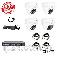 Комплект видеонаблюдения FullHD Partizan 1080p (4 видеокамеры)