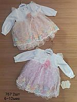 Платья нарядное для девочек 68-74 м Турция.Оптом