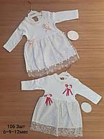 Платья нарядное для девочек 62-68-74 рост. Турция.Оптом