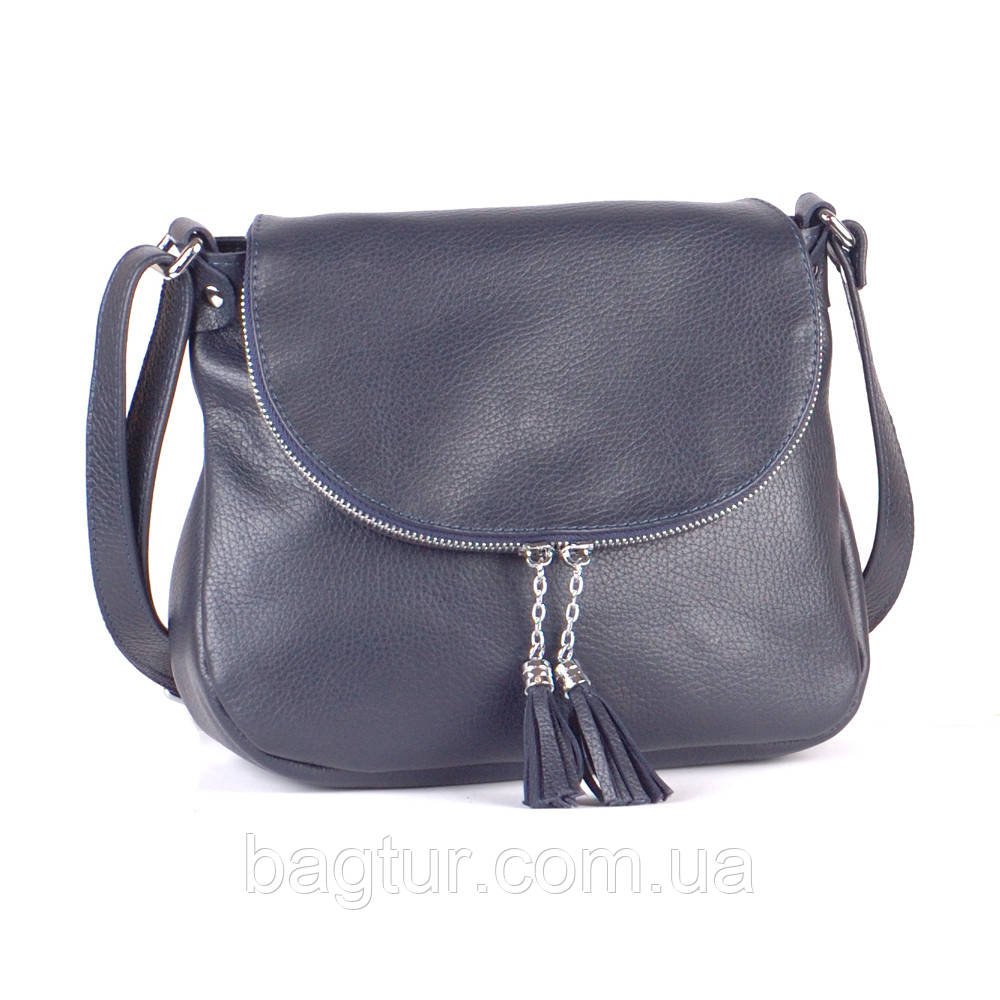 Женская сумка кожаная 19 синий флотар 01190103