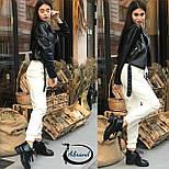 Женские кожаные штаны на манжетах 3812390, фото 4