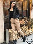 Женские кожаные штаны на манжетах 3812390, фото 5