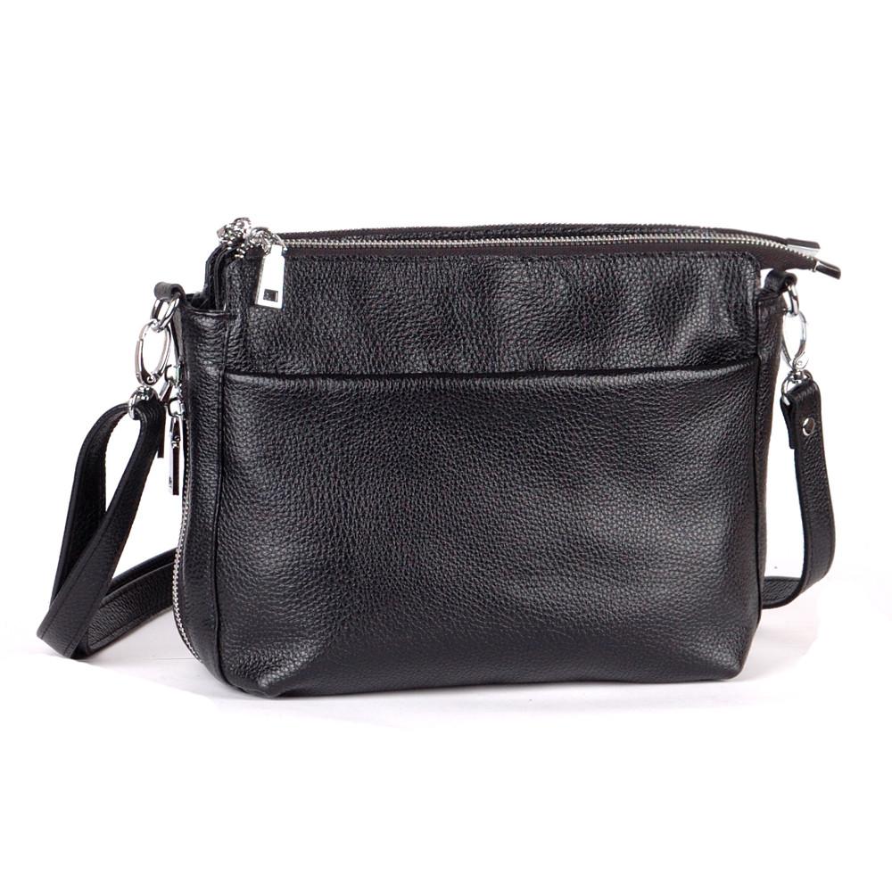 Женская кожаная сумка 21 черный флотар 01210101