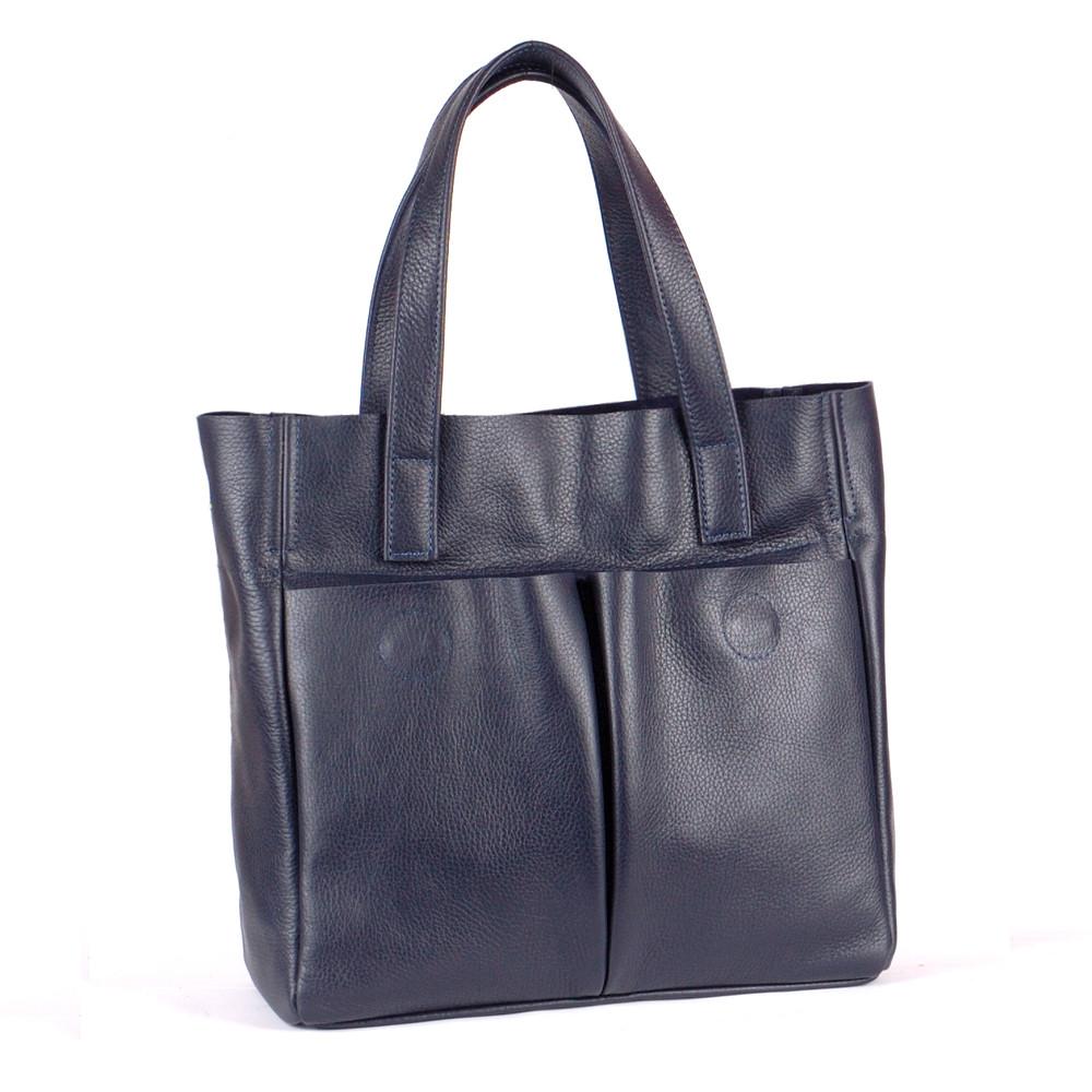 Женская сумка кожаная 02 темно-синий флотар 01020103