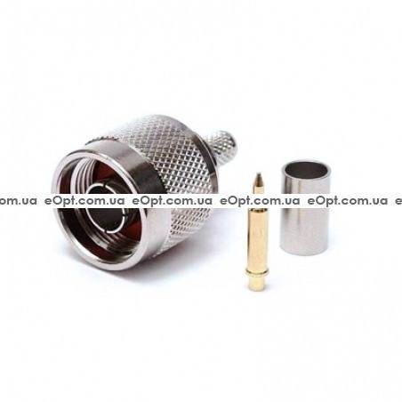 Разъем N Male на кабель RG-58 (Обжим)